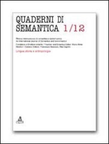 Quaderni di semantica (2012). 1.