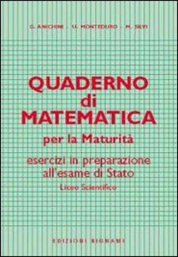 Quaderno di matematica per la maturità