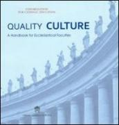 Quality culture. A handbook for ecclesiastical faculties
