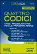 Quattro codici: Civile-Procedura civile-Penale-Procedura penale. Ediz. minor. Con aggiornamento online