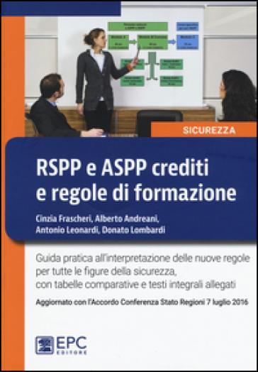 RSPP e ASPP crediti e regole di formazione
