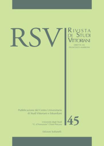 RSV. Rivista di studi vittoriani. 45. - F. Marroni   Rochesterscifianimecon.com