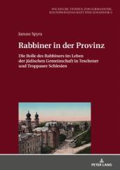 Rabbiner in Der Provinz