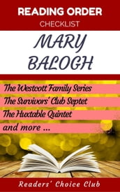 Reading order checklist: Mary Balogh - Series read order: The Survivors  Club Septet Series, Dark Angel Series, Bedwyn Saga Series and more!