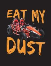 Red Go Kart Eat My Dust Notebook