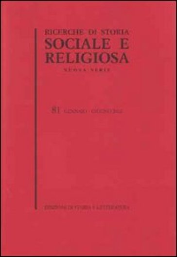 Ricerche di storia sociale e religiosa. 82.