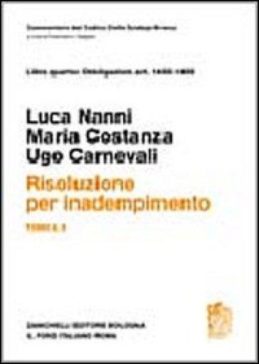 Risoluzione per inadempimento. Art. 1455-1459. 1/2. - Luca Nanni  