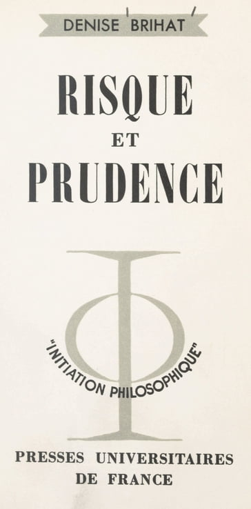 Risque et prudence