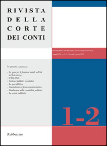 Rivista della Corte dei Conti (2016). 1-2.