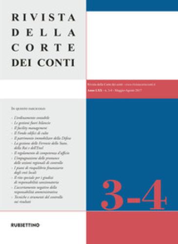 Rivista della Corte dei Conti (2017). 3-4: Maggio-Agosto