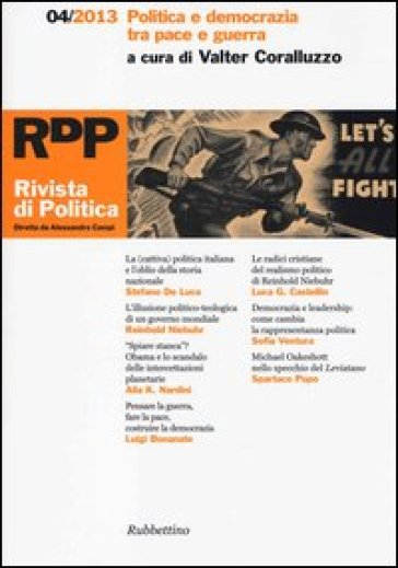 Rivista di politica (2013). 4: Politica e democrazia tra pace e guerra - V. Coralluzzo  