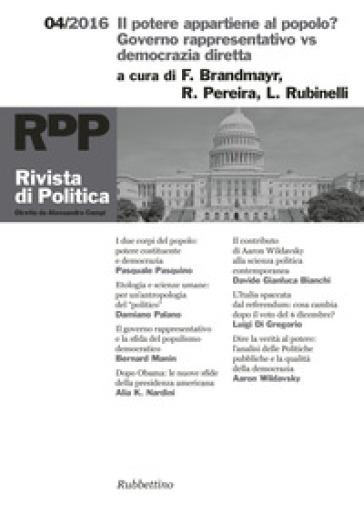 Rivista di politica (2016). 4: Il potere appartiene al popolo? Governo rappresentativo vs democrazia diretta - L. Cimmino  