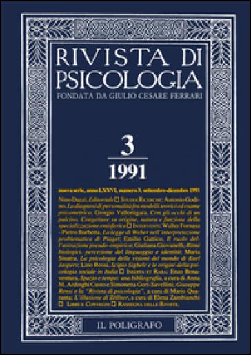 Rivista di psicologia (1991). 3.Settembre-dicembre