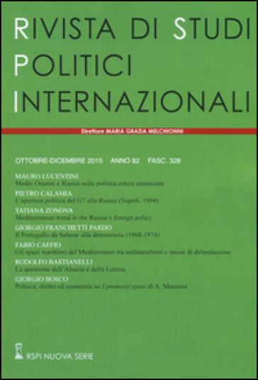 Rivista di studi politici internazionali (2015). 4.