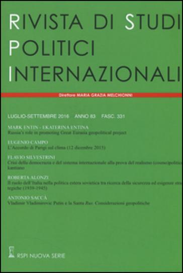 Rivista di studi politici internazionali. 3.