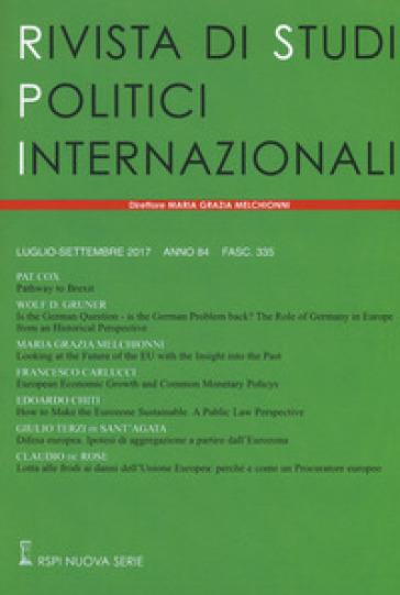 Rivista di studi politici internazionali (2017). 3.