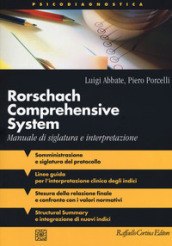 Rorschach comprehensive system. Manuale di siglatura e interpretazione