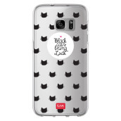 Samsung S7 Clear Case - Black Cats