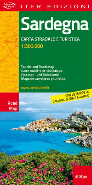 Sardegna. Carta stradale e turistica antistrappo 1:300.000. Ediz. italiana, inglese, francese, tedesca, spagnola