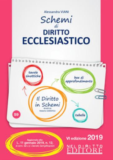 Schemi di diritto ecclesiastico - Alessandra Viani |