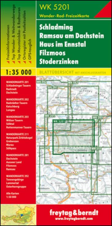 Schladming Ramsau am Dachstein Haus im Ennstal Filzmoos Stoderzinken 1:35.000