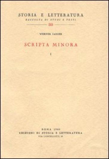 Scripta minora - Werner Jaeger | Kritjur.org