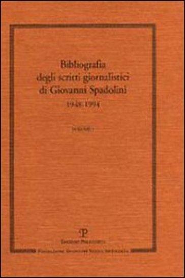 Scritti giornalistici - Giovanni Spadolini | Kritjur.org