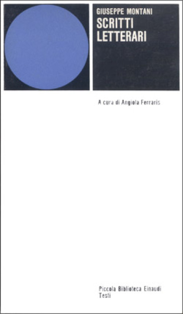 Scritti letterari - Giuseppe Montani | Kritjur.org