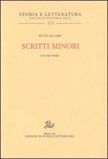 Scritti minori vol. 1-3 - Gaetano De Sanctis |