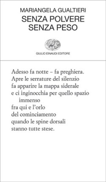 Senza polvere senza peso - Mariangela Gualtieri | Kritjur.org