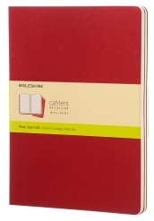 Set 3 Quaderni a pagine bianche Cahier Journal - Extralarge - Copertina Rossa