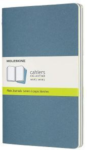 Set 3 quaderni Cahier Journals - pagine bianche - Large - Brisk Blue