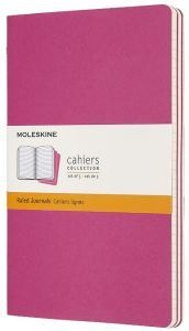 Set 3 quaderni Cahier Journals a righe - Large - Rosa Cinema