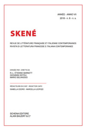 Skené. Rivista di letteratura francese e italiana contemporanee-Revue de littérature française et italienne contemporaines (2018). 8. - I. Cedro  