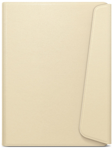 Sleepcover in Ecopelle Cream per  Kobo Glo HD e Touch 2.0