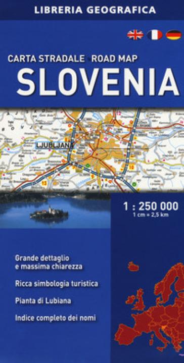 Slovenia. Carta stradale 1:250.000
