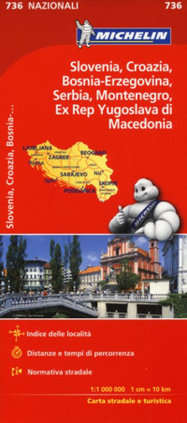 Slovenia Croazia Bosnia 1:1.000.000