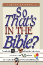 So That s in the Bible?