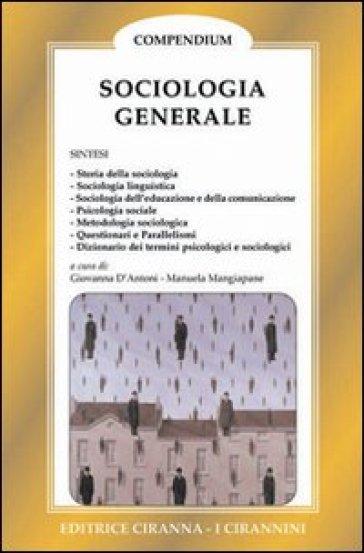 Sociologia generale - Manuela Mangiapane  