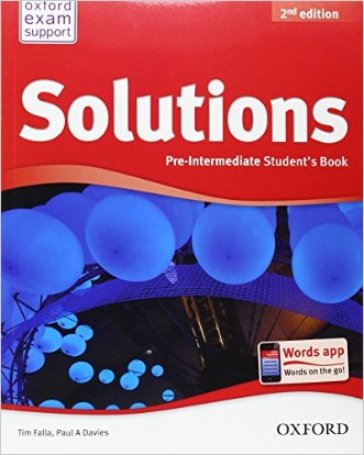 Solutions. Pre-intermediate. Student's book. Per le Scuole superiori