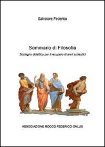 Sommario di filosofia - Federico Salvatore  