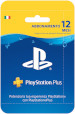 Sony PSN PS Plus Hanging Card 12 Mesi