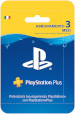 Sony PSN PS Plus Hanging Card 3 Mesi