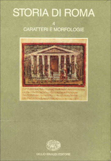 Storia di Roma. 4.Caratteri e morfologie - E. Gabba   Kritjur.org