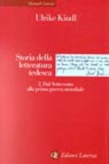 Storia della letteratura tedesca. 2: Dal Settecento alla prima guerra mondiale - Ulrike Kindl | Ericsfund.org
