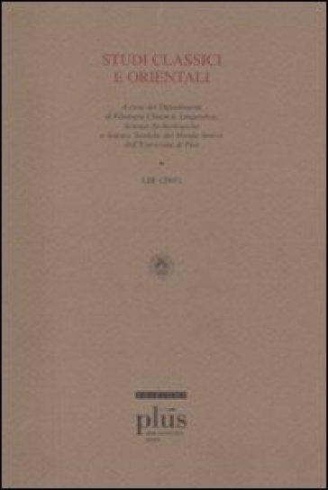 Studi classici e orientali (2007). 53. -  pdf epub