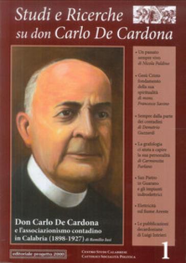Studi e ricerche su don Carlo De Cadorna