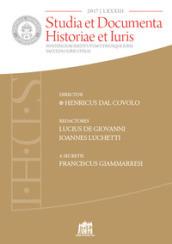 Studia et documenta historiae et iuris (2017). 83.