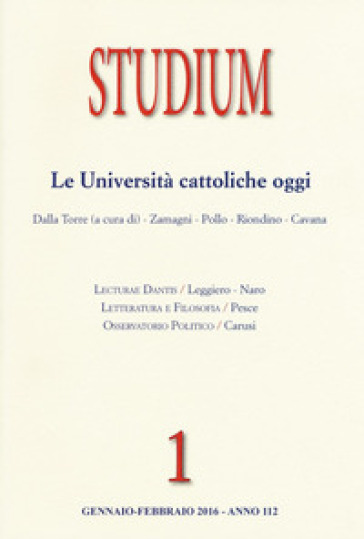 Studium (2016). 1: Le università cattoliche oggi