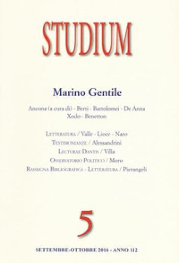 Studium (2016). 5: Marino Gentile